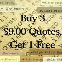 Handtyped Quotes Hand Typed Poems Inspirational Typewriter Quotes - Buy 3 Get 1 Free