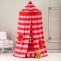 Kids Canopy: Pink Striped Play Circus Tent in Playhomes | The Land of Nod