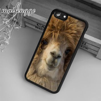 Alpaca Funny Face Animal Case For iPhone 6 6S 7 8 Plus X 5 5S SE Case cover for Samsung S5 S6 S7 edge S8 Plus