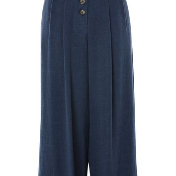 Crop Wide Leg Trousers - Clothing