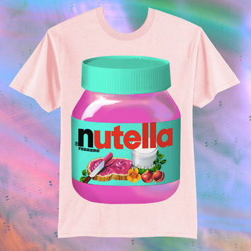 ANY COLOR // UNISEX Hot Pink Nutella Kawaii Grunge T-Shirt // fASHLIN