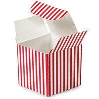 Striped Mini Paper Boxes, 2-inch, 12-pack