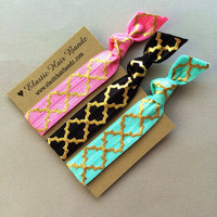The Jenna Print Hair Tie Ponytail Holder Collection by Elastic Hair Bandz