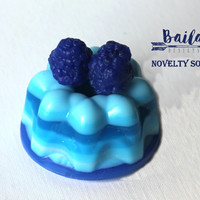 blueberry soap, blueberry cheesecake soap, blueberry bunt cake, berry novelty soap, blueberry pie soap, dessert soap, blueberry cake soap