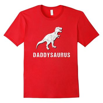 Daddysaurus Shirt Funny Dinosaur First Time Dad Gift Kids
