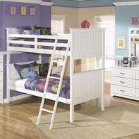 Milan White Twin over Twin Bunk Bed