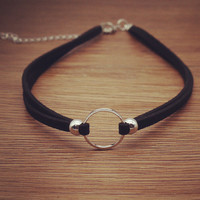 Womens Retro Velvet Choker Adjustable Necklace + Gift Box
