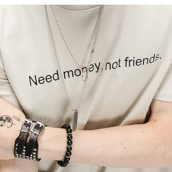 """Need Money, Not Friends"" Tee"