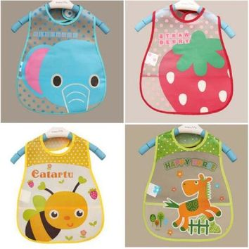 ESBONJ Baby Bibs EVA Waterproof Lunch Bibs Boys Girls Infants Cartoon Pattern Bibs Burp Cloths For Children Self Feeding Care