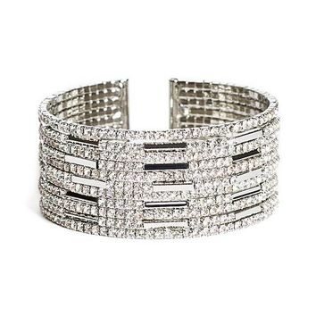 Amalia Pave Wire Flexi Cuff at Guess