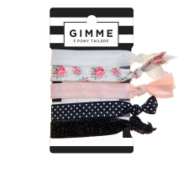 Gimme Ivory and Black Hair Tie Set 5pc - Walmart.com