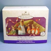 1999 The Tale of Peter Rabbit Hallmark Retired Ornaments