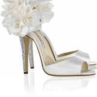 Brian Atwood Aurora Embellished Satin Sandals - $223.00