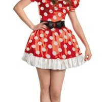 Red Minnie Mouse Adult Costume - Halloween Costumes