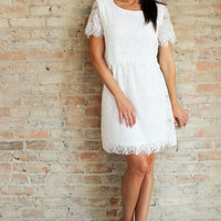 Acra Lace Dress - White