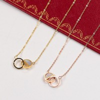 Cartier Women Fashion Plated Chain Necklace Jewelry