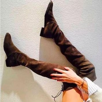 ca PEAPTM4 Hot Deal On Sale Winter Skinny Stretch High Heel Suede Ladies Boots [11203296263]