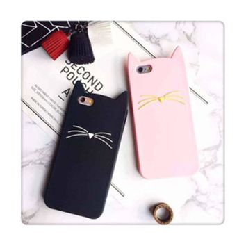 LMFON Pink Cats Iphone Apple Cartoons Phone Case Silicone Phone Case [8864262343]