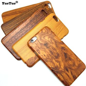 YueTuo original luxury hard case for iphone 6s 6 s 4.7 for iphone6 brand phone wood grain protective fashion back wooden cover