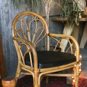 JUNGALOW RATTAN CHAIR   VINTAGE