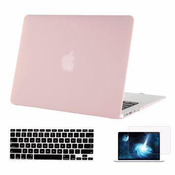 Mosiso for Macbook Air 13 13.3 inch Protective Shell Cover Case A1369 A1466 + Silicone Keyboard cover + Screen Protector