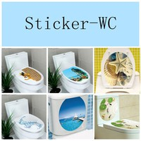 Flower Wall Stickers 32*39cm WC decor bathroom