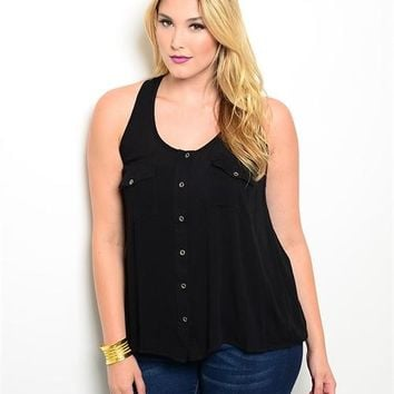 Black Top - Plus Size