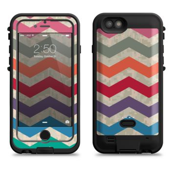The Rainbow Chevron Over Digital Camouflage  iPhone 6/6s Plus LifeProof Fre POWER Case Skin Kit