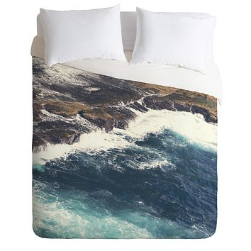 Catherine McDonald Land Meets Sea Duvet Cover