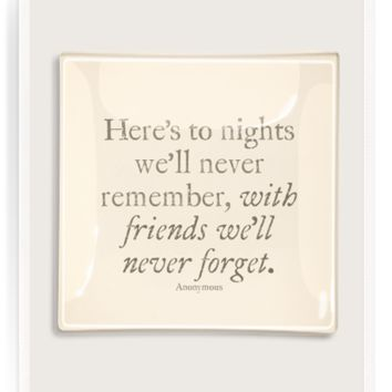 Here's To Nights With Friends Decoupage Glass Tray