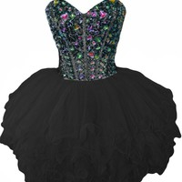 Sunvary Gorgeous Rhinestone Short Girls Homecoming Prom Dresses