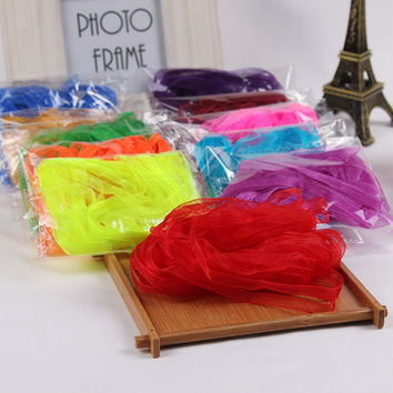 1/4''(6mm) Organza Ribbon Decorative Gift Packing Wedding Crafts Christmas White Pink Red Black Ribbons (10 Meters/lot)