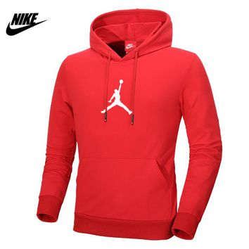 NIKE AIR JORDAN autumn and winter sports basketball training clothes hooded sweater Red