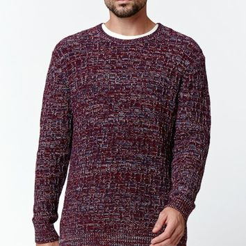 On The Byas Zack Marled Knit Sweater - Mens Sweater - Red