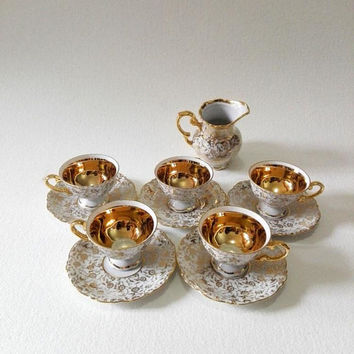 Germany vintage, Set of 6, Set cups and saucers, Tea set, Coffee set, Made in Germany, Tea cups, Coffee cups, vintage cups, home decor,cups