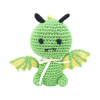 Dog Teeth Cleaning Cotton Crochet Squeaky Dog Toy for Small Dog - Drago The Dragon