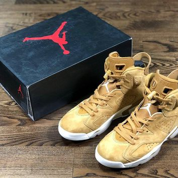 Air Jordan 6 yellow size 40.5-47.5