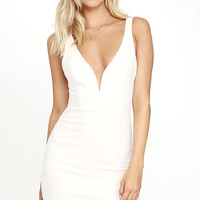 Perfect Pick White Bodycon Dress