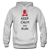 keep calm and run hoodie