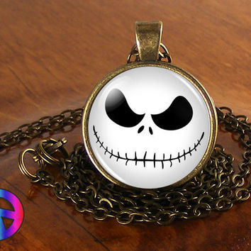 Jack Skellington Skull Nightmare Before Christmas Necklace Pendant Jewelry Gift