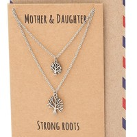 Ayiesha Tree of Life Necklace, Mother Daughter Jewelry