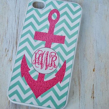 Personalized iPhone or Samsung Galaxy S3 Case, iPhone 4, iPhone 4S, iPhone 5, Samsung Galaxy S3, Monogrammed Chevron Phone Case