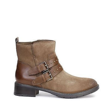 Clarks Womens Boots Swansea Grove Khaki Suede 12876