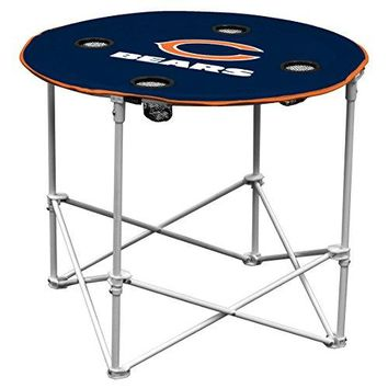 Chicago Bears  Collapsible Round Table with 4 Cup Holders and Carry Bag