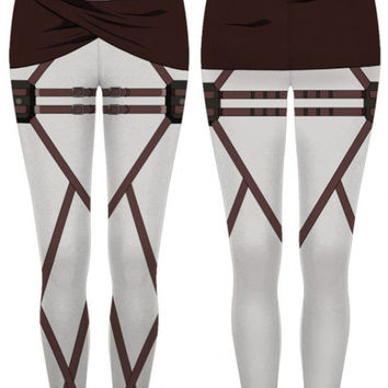 Attack on Titan Scout Regiment Leggings Pant Cosplay Costume TALJ2048