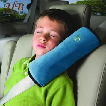 Children Pillow Kids Shoulder Pad Cover Car Auto Seat Belt Harness Kids Head Protective Covers Anti-roll Pillow Cushion
