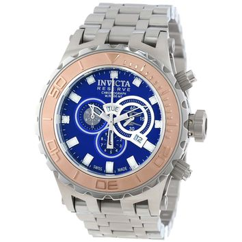 Invicta 14035 Men's Subaqua Reserve Blue Dial Stainless Steel Chronograph Dive Watch
