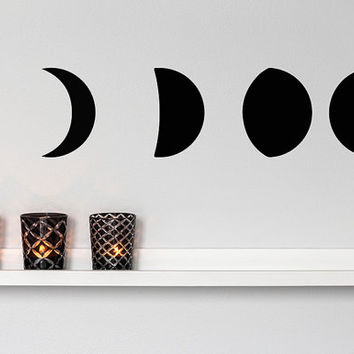 Moon Phases Vinyl Wall Decal Sticker Art