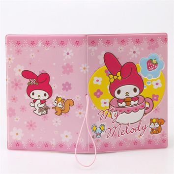 My Melody Cute Girl 3D Design Fashion Passport holder Cover ID package Travel Accessories Ticket Protective Case Gift