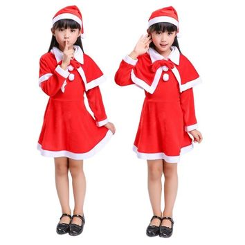 LL 3 PC Children's Santa Christmas Dress